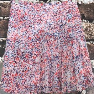 NEW Banana Republic floral print summer skirt 14